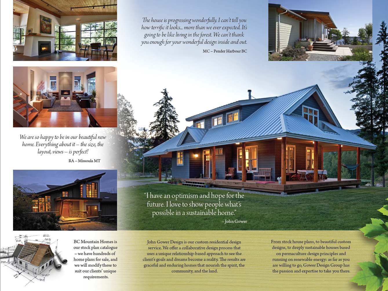 Gower Design Group brochure inside spread
