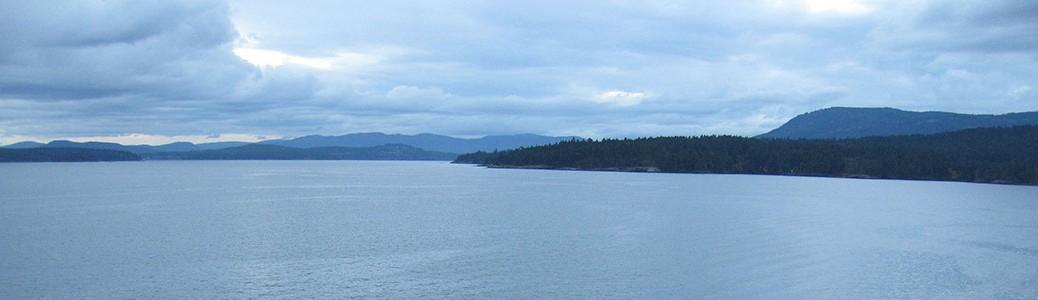 view from Swartz Bay ferry